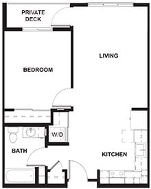 1 Bedroom Example Floor Plan